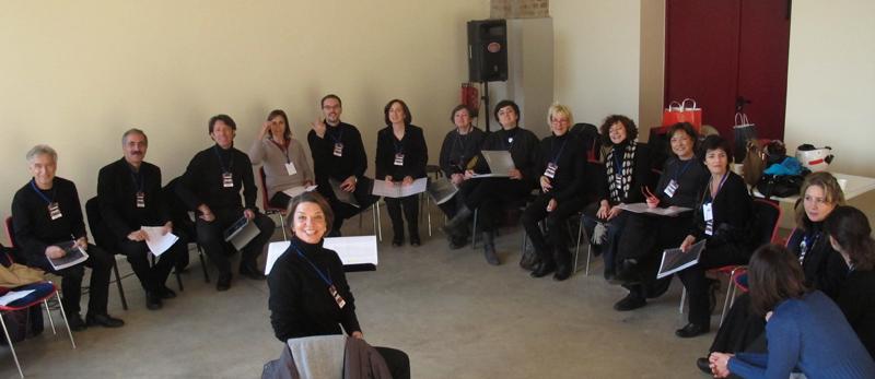 2012. Garon di Yuval Avital alla Fabbrica del Vapore di Milano. Prove del coro.
