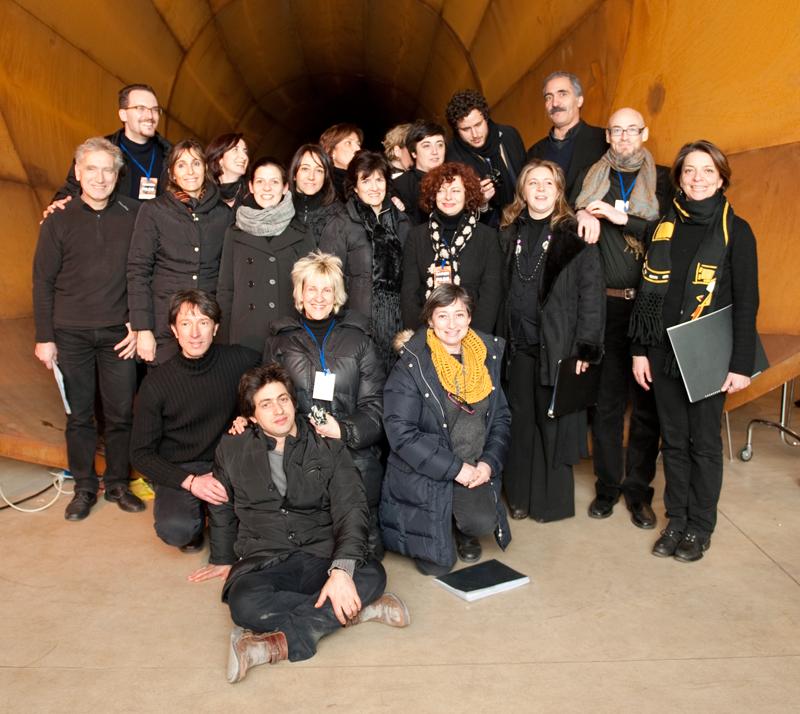 2012. Garon. Foto di gruppo con il compositore ed il Coro.
