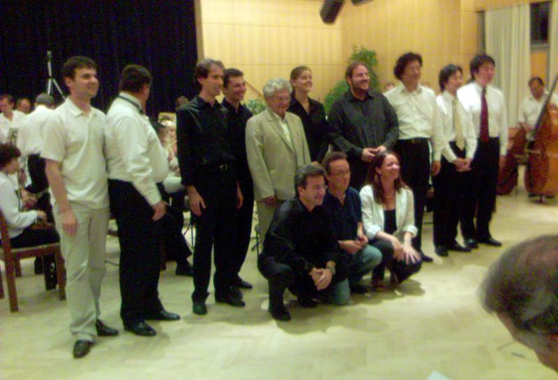 Luglio 2003. Vienna, Wiener Musikseminar, con il M° E. Acél (al centro).